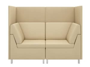 Front View of Rally Privacy Corner Loveseat